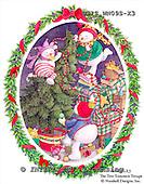 Ingrid, CHRISTMAS SANTA, SNOWMAN, WEIHNACHTSMÄNNER, SCHNEEMÄNNER, PAPÁ NOEL, MUÑECOS DE NIEVE, paintings+++++,USISWN09S-X3,#X# vintage