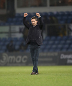 2nd December 2017, Global Energy Stadium, Dingwall, Scotland; Scottish Premiership football, Ross County versus Dundee; Dundee manager Neil McCann at full time