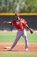 Cincinnati Reds Francis Azcona (35) during an Instructional League game against the Texas Rangers on October 4, 2016 at the Surprise Stadium Complex in Surprise, Arizona.  (Mike Janes/Four Seam Images)