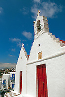 A characteristic feature of the mykonian landscape is the plethora of votive chapels. It is estimated that the number of chapels on the island today is close to 800, with some 60 churches in Mykonos Town.