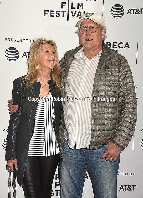 Chevy Chase and wife Jayni Chase attends the Dog Years&quot; screening at the Tribeca Film Festival on April 22, 2017 at Cinepolis Chelsea in New York, New York, USA.<br /> <br /> photo by Robin Platzer/Twin Images<br />  <br /> phone number 212-935-0770