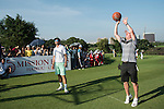 Paul Scholes plays basketball at the 17th hole during the World Celebrity Pro-Am 2016 Mission Hills China Golf Tournament on 22 October 2016, in Haikou, China. Photo by Weixiang Lim / Power Sport Images