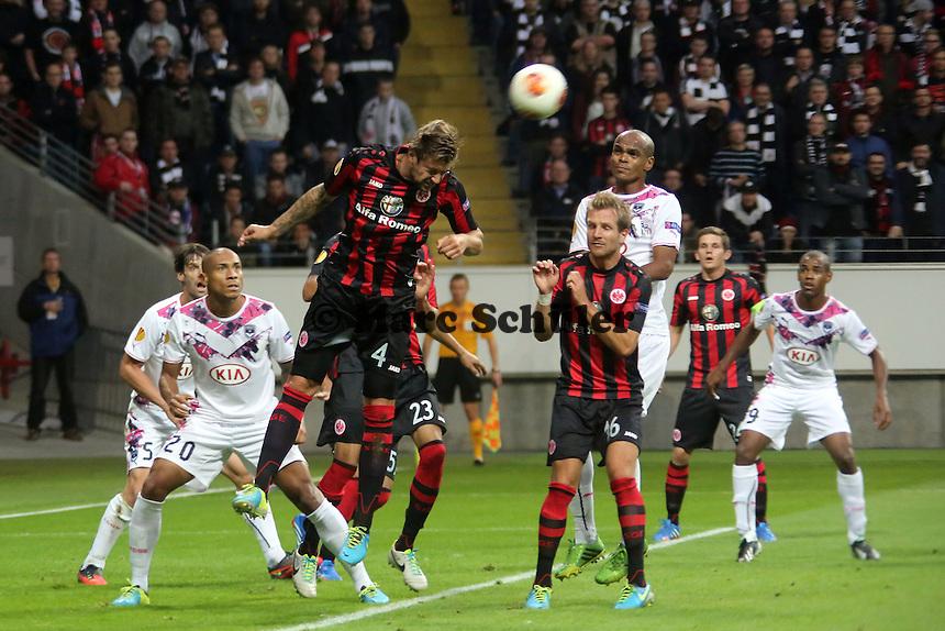 Kopfballabwehr Marco Russ (Eintracht) - 1. Spieltag der UEFA Europa League Eintracht Frankfurt vs. Girondins Bordeaux