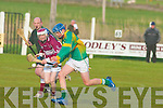 Lixnaw midfielder Tommy Allen dashes up field...   Copyright Kerry's Eye 2008