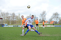 "VOETBAL: BALK: Voetbalcomplex ""de Wilgen"", 27-04-2013, KNVB 1ste Klasse E district Noord, VV Balk -VV Drachtster Boys, Einduitslag 1-2, Richard Hamstra (#2 | DB), ©foto Martin de Jong"