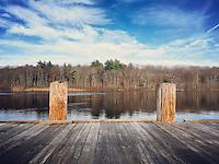 Turtle Pond in Dedham, Massachusetts on November 15, 2015.
