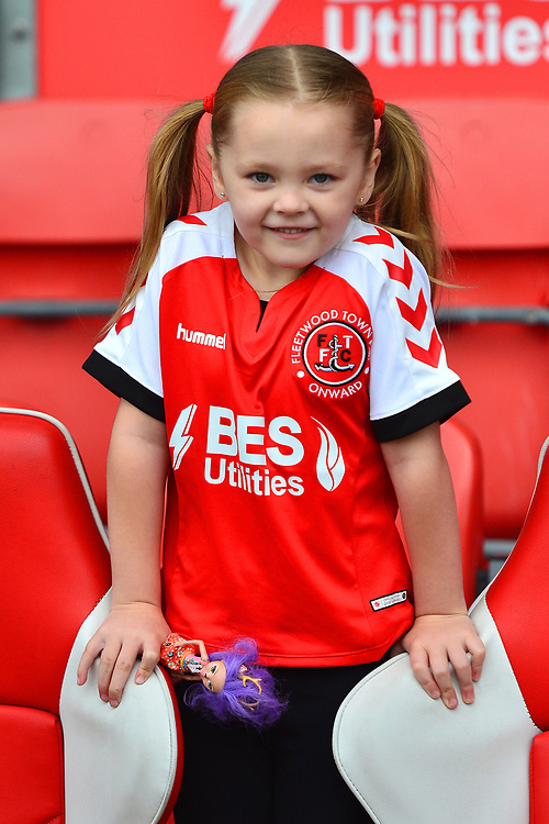 A young Fleetwood Town fan looks on<br /> <br /> Photographer Richard Martin-Roberts/CameraSport<br /> <br /> The EFL Sky Bet League One - Fleetwood Town v Ipswich Town - Saturday 5th October 2019 - Highbury Stadium - Fleetwood<br /> <br /> World Copyright © 2019 CameraSport. All rights reserved. 43 Linden Ave. Countesthorpe. Leicester. England. LE8 5PG - Tel: +44 (0) 116 277 4147 - admin@camerasport.com - www.camerasport.com