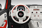 Car pictures of steering wheel view of a 2014 Fiat 500e Hatchback 3 Door Hatchback Steering Wheel