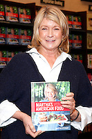 Martha Stewart pictured signing copies of her new book, Martha's American Food at Barnes & Noble in Princeton, New Jersey on May 2, 2012 © Star Shooter / MediaPunchInc
