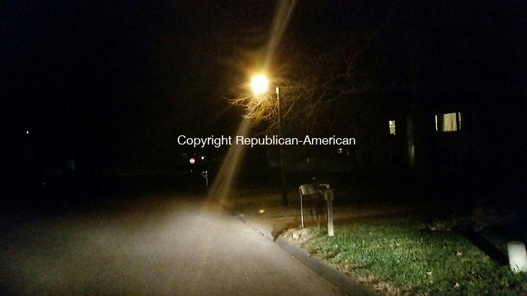 TORRINGTON, CT- 18 November 2015- 111815BJ01-- A streetlight on Wedgewood Drive will be removed under a streetlight master plan approved by the City Council on Monday. Bruno Matarazzo Jr. Republican-American