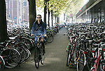 AMSTERDAM - NETHERLANDS - 19 OCTOBER 2004 -- Bicycles are famously the most popular means of transportation in the city one can find them parked everywhere. Bicycle parking depot at the central station.-- PHOTO:  EUP-IMAGES / JUHA ROININEN