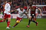 Sheffield United's Billy Sharp and Reece Burke of Bradford - Sheffield United vs Bradford City - Skybet League One - Bramall Lane - Sheffield - 28/12/2015 Pic Philip Oldham/SportImage