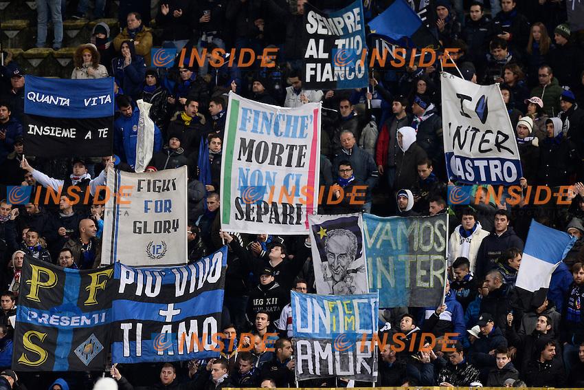 tifosi Inter Supporters - Bologna 24-11-2013 -Stadio Dall'Ara - Football Calcio Campionato Italiano Serie A 2013/2014 - Bologna - Inter Foto Daniele Buffa / Imagesport / Insidefoto