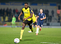3rd December 2019; Pirelli Stadium, Burton Upon Trent, Staffordshire, England; English League One Football, Burton Albion versus Southend United; Lucas Akins of Burton Albion  chasing down a loose ball - Strictly Editorial Use Only. No use with unauthorized audio, video, data, fixture lists, club/league logos or 'live' services. Online in-match use limited to 120 images, no video emulation. No use in betting, games or single club/league/player publications