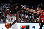 United States´s Harden (L) and Serbia´s Teodosic during FIBA Basketball World Cup Spain 2014 final match between United States and Serbia at `Palacio de los deportes´ stadium in Madrid, Spain. September 14, 2014. (ALTERPHOTOSVictor Blanco)