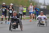 Peter Hawkins, front, wheels down Merrick Avenue in Westbury during the Long Island Marathon on Sunday, May 1, 2016.