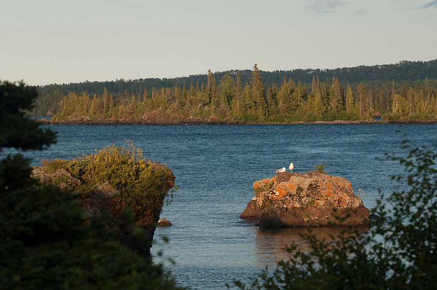 Rocky islands on Lake Superior at Isle Royale National Park.