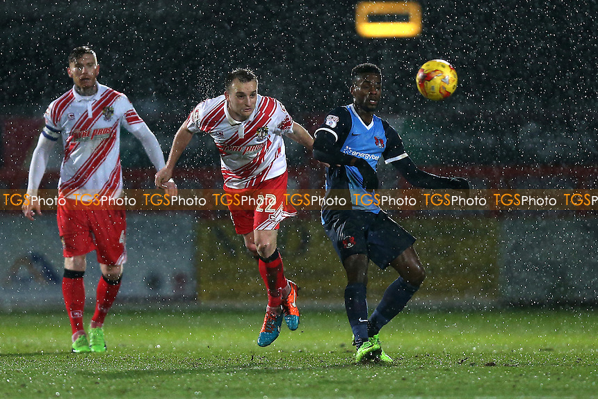 Charlie Lee of Stevenage and Gavin Massey of Leyton Orient during Stevenage vs Leyton Orient, Sky Bet EFL League 2 Football at the Lamex Stadium on 28th February 2017