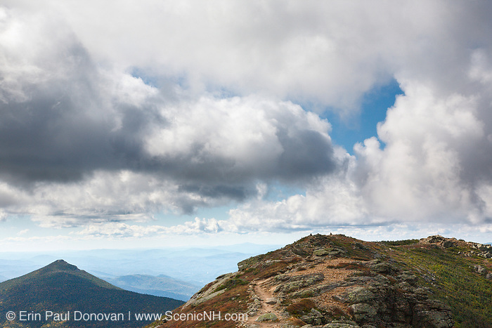 The Appalachian Trail (Franconia Ridge Trail), near Little Haystack Mountain, in the New Hampshire White Mountains during the late summer months.