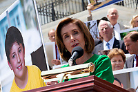 Speaker of the United States House of Representatives Nancy Pelosi (Democrat of California) speaks during a press conference on Capitol Hill in Washington D.C., U.S. to discuss health care coverage for those with pre-existing conditions on July 9, 2019.<br /> CAP/MPI/RS<br /> ©RS/MPI/Capital Pictures