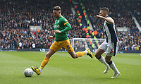 Preston North End's Alan Browne shields the ball from West Bromwich Albion's Kieran Gibbs<br /> <br /> Photographer Stephen White/CameraSport<br /> <br /> The EFL Sky Bet Championship - West Bromwich Albion v Preston North End - Saturday 13th April 2019 - The Hawthorns - West Bromwich<br /> <br /> World Copyright © 2019 CameraSport. All rights reserved. 43 Linden Ave. Countesthorpe. Leicester. England. LE8 5PG - Tel: +44 (0) 116 277 4147 - admin@camerasport.com - www.camerasport.com