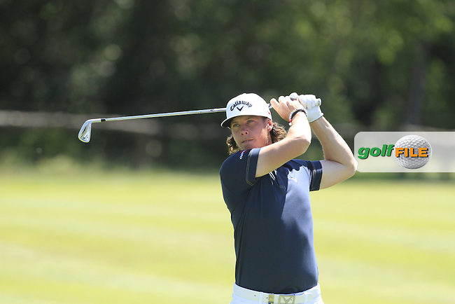 Kristoffer Broberg (SWE) on the 9th during Round 3 of the Open de Espana  in Club de Golf el Prat, Barcelona on Saturday 16th May 2015.<br /> Picture:  Thos Caffrey / www.golffile.ie