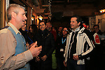 Bode Miller in family at Paganella in Trentino, Italy to present Bomber skis. US Olympic champion Bode Miller in family with his wife Morgan Beck and journalists are seen at the Paganella, in Trentino, on February 3, 2017.