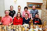 Enjoying the night out in Bella Bia on Sunday evening.<br /> Seated l-r, Aidan, Doireann and Aisling O&rsquo;Carroll and Rory O&rsquo;Connell.<br /> Back l-r, Orla, Eileen and Grainne O&rsquo;Carroll and Ronan McCann.