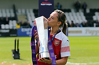 Jordan Nobbs of Arsenal Women with the FA Women's Super League Trophy  during Arsenal Women vs Manchester City Women, FA Women's Super League Football at Meadow Park on 11th May 2019