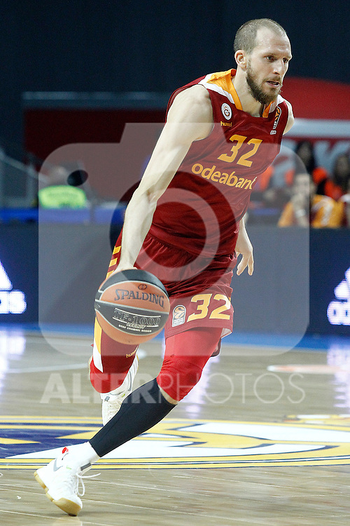 Galatasaray Odeabank Istambul's Sinan Guler during Euroleague, Regular Season, Round 5 match. November 3, 2016. (ALTERPHOTOS/Acero)