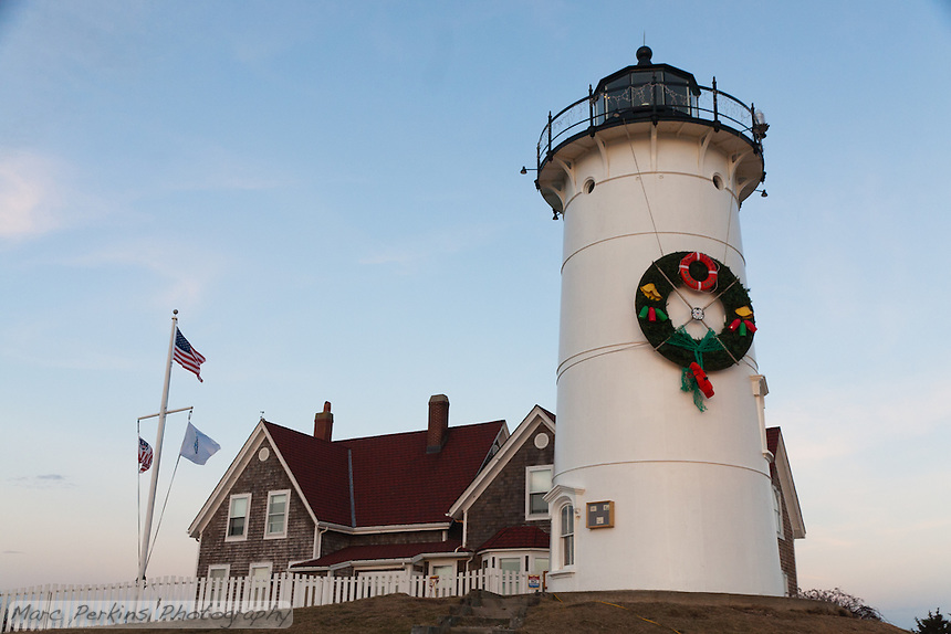 Nobska Lighthouse in Woods Hole, MA on Cape Cod.