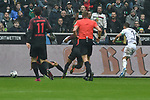 06.10.2019, Borussia-Park - Stadion, Moenchengladbach, GER, DFL, 1. BL, Borussia Moenchengladbach vs. FC Augsburg, DFL regulations prohibit any use of photographs as image sequences and/or quasi-video<br /> <br /> im Bild Patrick Herrmann (#7, Borussia Moenchengladbach) macht das Tor zum 3:0<br /> <br /> Foto © nordphoto/Mauelshagen