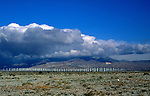 Wind turbines at Palm Springs, California, USA