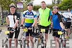 Donnchadh Woods ( Knockanure) and from Moyvane Mike O' Connor, Alan Quinn & Diarmuid Carmody at the Remembering Zoe Cycle Challenge was held last Sunday morning at Fr. Casey's GAA clubhouse Abbeyfeale