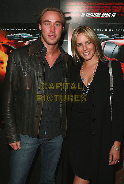 "KYLE LOWDER & ARIANNE ZUKER .Redline Premiere Party, ""Myspace For Myfriends"" held at Aura Nightclub, Studio City, California, USA.  .April 18th, 2007.half length black dress leather jacket .CAP/ADM/CH.©Charles Harris/AdMedia/Capital Pictures"