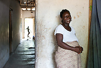 BRAC project, pregnant woman, Doris Wemyou. Has four kids,