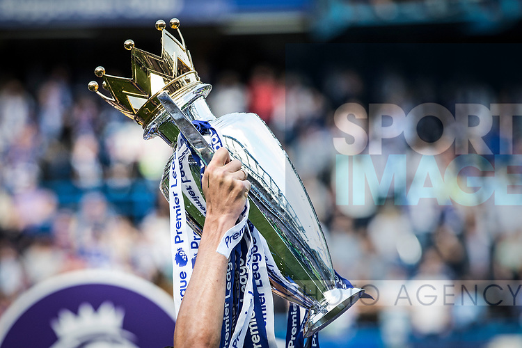 The Premier League trophy during the Premier League match at Stamford Bridge Stadium, London. Picture date: May 18th, 2017. Pic credit should read: David Klein/Sportimage