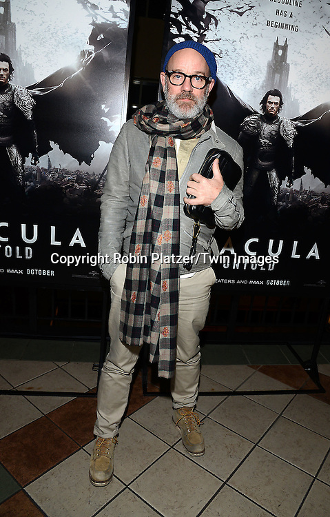 Michael Stipe attends the Special Screening of &quot;Dracula Untold&quot;  on October 6, 2014 at The ABC Loews 34th Street Imax Theatre In New York City. <br /> <br /> photo by Robin Platzer/Twin Images<br />  <br /> phone number 212-935-0770
