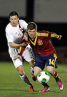 Spain's Alberto Moreno and Norway's Linnes during an International sub21 match. March 21, 2013.(ALTERPHOTOS/Alconada) /NortePhoto