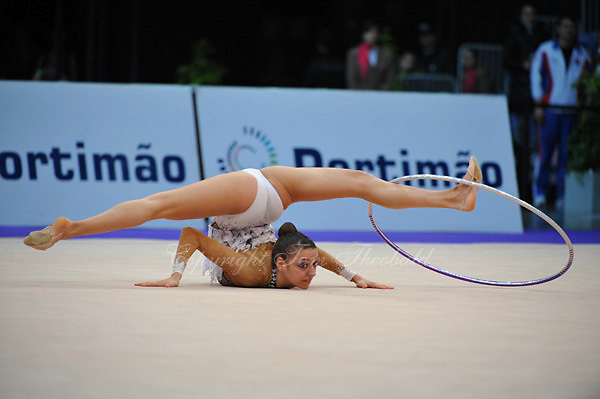 Evgeniya Kanaeva of Russia performs at 2010 World Cup at Portimao, Portugal on March 12, 2010.  (Photo by Tom Theobald).