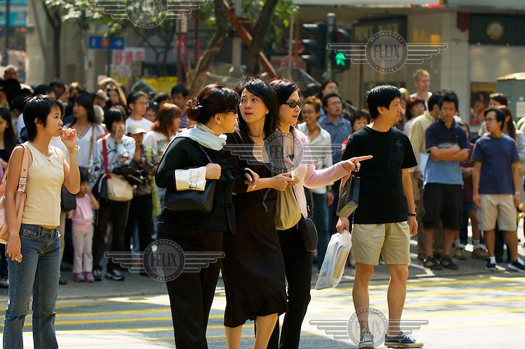 Women shopping in Causeway Bay.