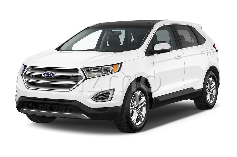 2015 Ford Edge Titanium 5 Door SUV Angular Front stock photos of front three quarter view
