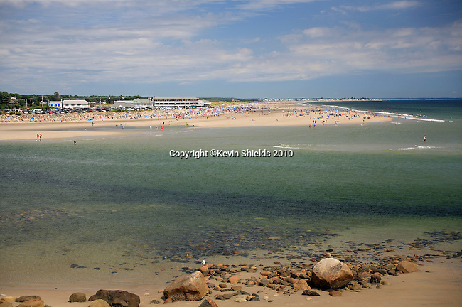 Beach scene, Ogunquit, Maine, USA