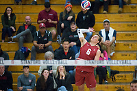 STANFORD, CA - December 30, 2017: Russell Dervay at Burnham Pavilion. The Stanford Cardinal defeated the Calgary Dinos 3-1.