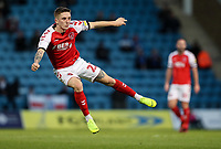 Fleetwood Town's Ashley Hunter shoots at goal <br /> <br /> Photographer Andrew Kearns/CameraSport<br /> <br /> The EFL Sky Bet League One - Gillingham v Fleetwood Town - Saturday 3rd November 2018 - Priestfield Stadium - Gillingham<br /> <br /> World Copyright &copy; 2018 CameraSport. All rights reserved. 43 Linden Ave. Countesthorpe. Leicester. England. LE8 5PG - Tel: +44 (0) 116 277 4147 - admin@camerasport.com - www.camerasport.com