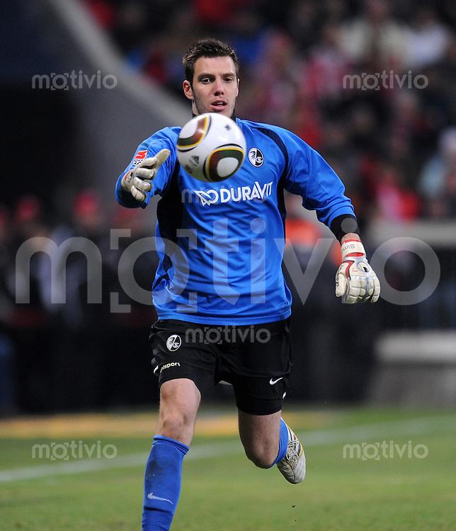 Fussball 1. Bundesliga :  Saison   2009/2010   26. Spieltag   FC Bayern Muenchen - SC Freiburg 13.03.2010 Simon Pouplin (Freiburg)