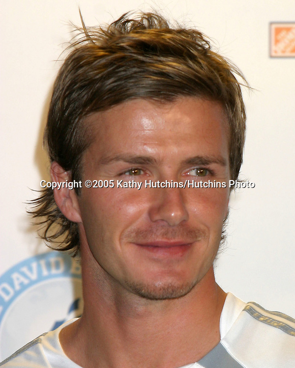 .David Beckham and AEG announce in a  Press Conference that they are to Launch Soccer Academy beginning in Fall 2005 at the Home Depot Center in So California..Carson, CA.June 2, 2005.©2005 Kathy Hutchins / Hutchins Photo