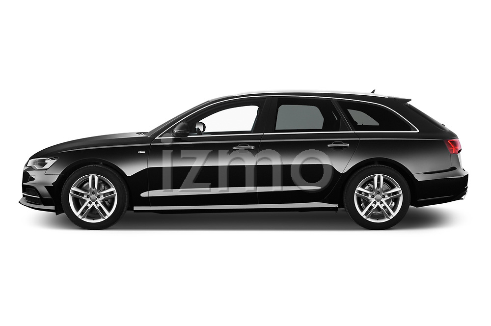 Car driver side profile view of a 2018 Audi A6 Avant S Line Select Doors Door Wagon
