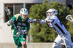Los Angeles, CA 02/06/16 - John Selby (Loyola Marymount #34) and Joseph Lamphere (Cal Poly #34)in action during the Cal Poly SLO Mustangs vs Loyola Marymount Lions MCLA Men's Lacrosse game.  Cal Poly defeated LMU 24-5