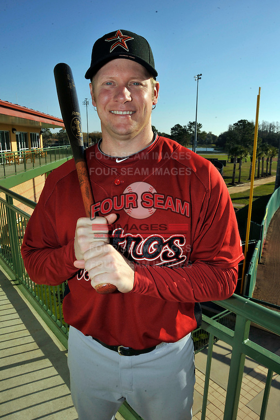 Feb 25, 2010; Kissimmee, FL, USA; The Houston Astros outfielder Jason Michaels (4) during photoday at Osceola County Stadium. Mandatory Credit: Tomasso De Rosa / Four Seam Images